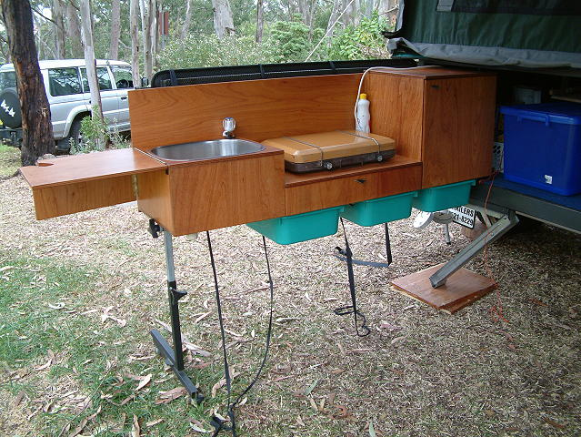 Kens Camper Trailer Kitchen